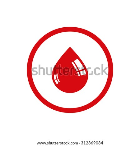 Drop of blood icon. Medical symbol - stock photo