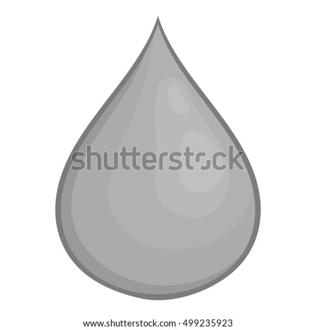 Drop of honey icon in black monochrome style isolated on white background. Food symbol  illustration