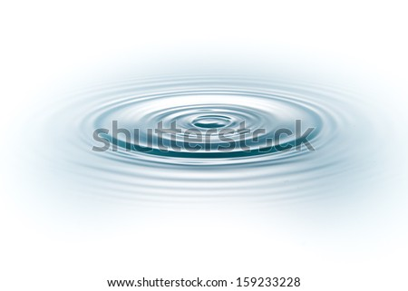 drop of water on white background - stock photo