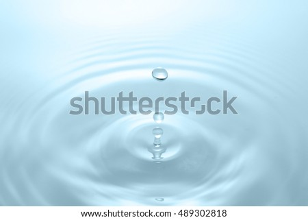 Drop of water, ripple
