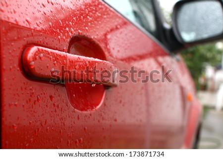 drop rain - stock photo