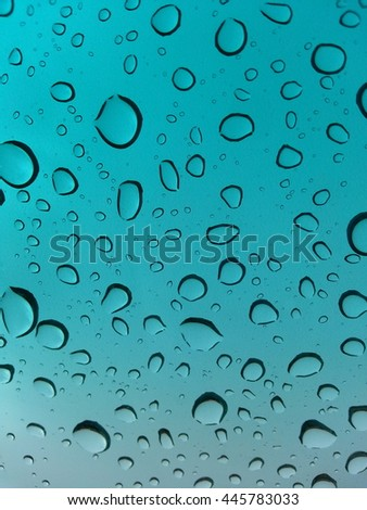 drop rain of glass for background