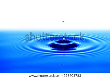 Drop water in blue, clean and fresh symbol.