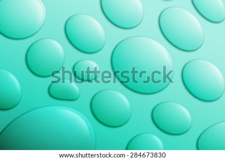 Drop Water on Aqua Background