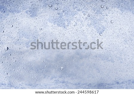 drop water on glass, Splash of sea foam background