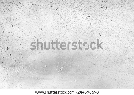 drop water on glass, Splash of sea foam background - stock photo