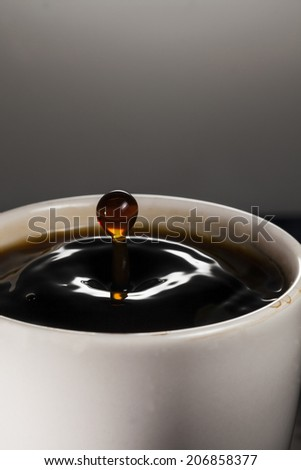 droplet of coffee
