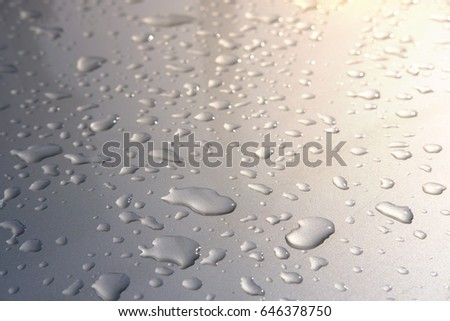 Droplets on car coloring