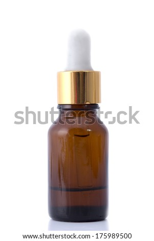 Dropper Bottle Isolated with clipping path on a white background