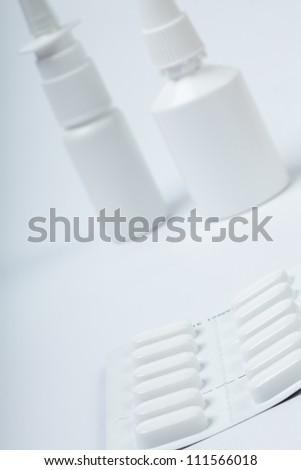 dropper on white background - stock photo