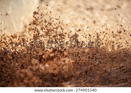 Drops of a dirty water - stock photo