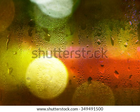 Drops of rain on a window background - stock photo