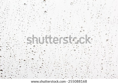 Drops of rain on a window glass - stock photo