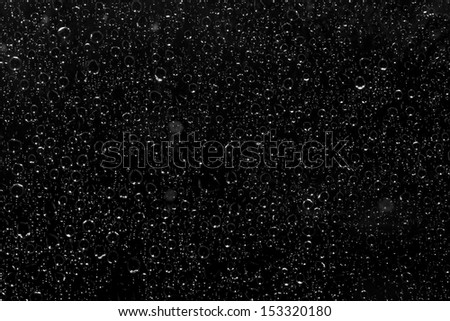 Drops of water on a dark background - stock photo