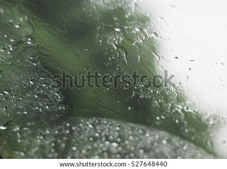 Drops of water on glass,Vintage style and soft focus.