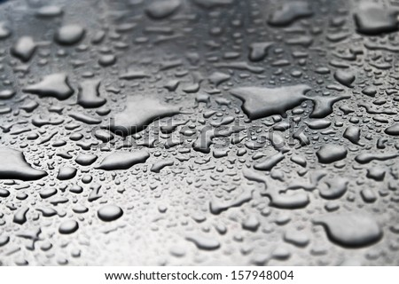 Drops of water on the floor. - stock photo