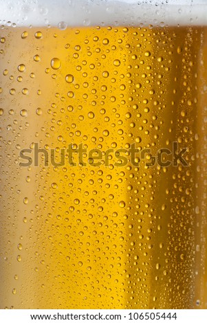 drops of water on the glass - stock photo