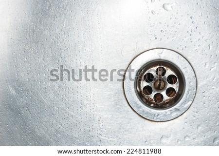 drops of water on the sink - stock photo