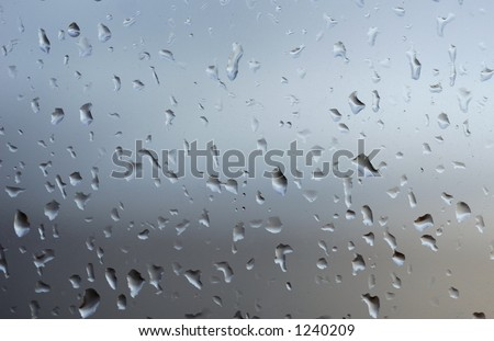 Drops of water on Window - stock photo