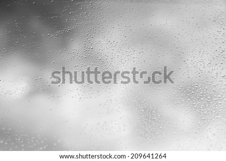 drops on glass - stock photo