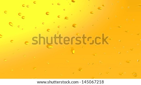 Drops on glass of beer