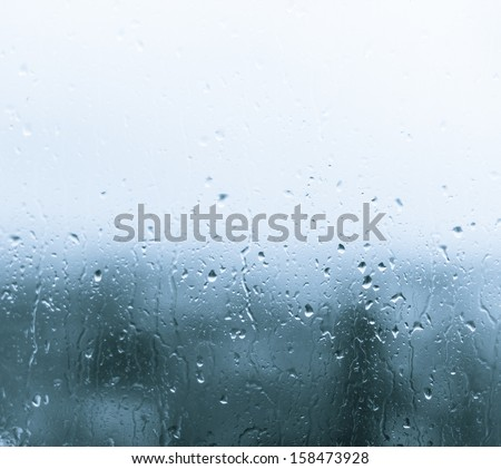 Drops on the glass - stock photo