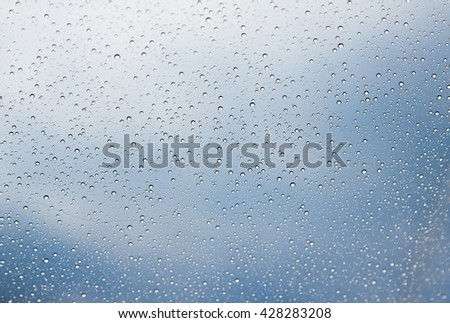 drops on the skylight