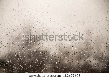 drops on window - stock photo