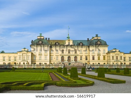 Drottningholm castle and the garden