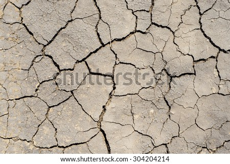 drought earth as textured background - stock photo