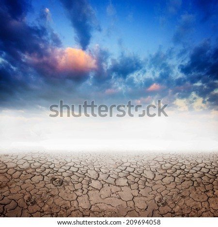 drought land background