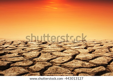 drought land in evening