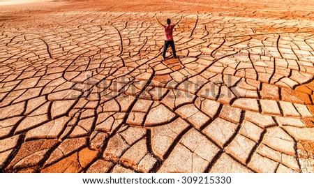 drought land so long waterless - stock photo