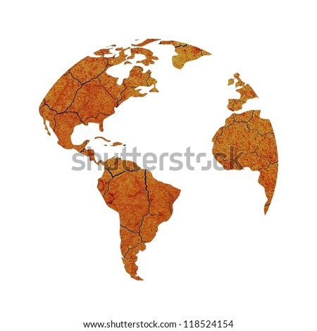 Drought on the planet Earth. - stock photo