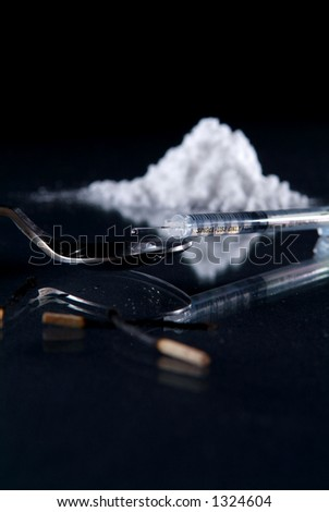Drug cook up - stock photo