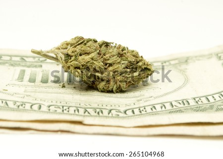 Drug Money, Marijuana  - stock photo