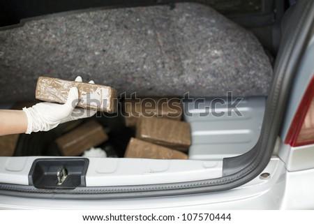 Drug smuggling - stock photo