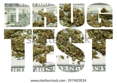 Drug Test, Marijuana  - stock photo
