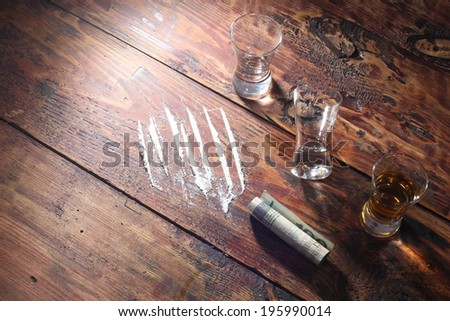 Drugs and alcohol - stock photo
