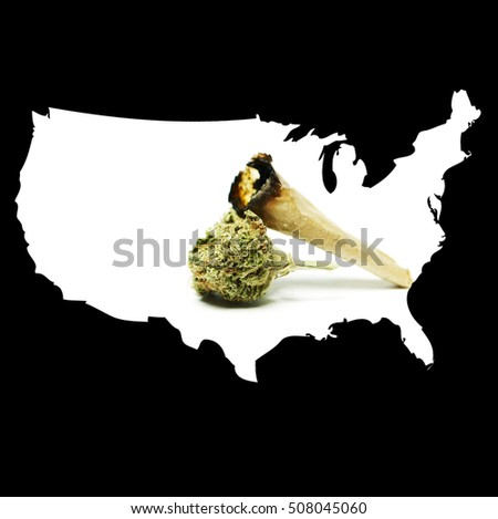 Drugs in the United States of America. Legal Marijuana and Cannabis Business.