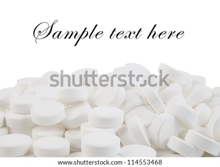 Drugs isolated on white background - stock photo