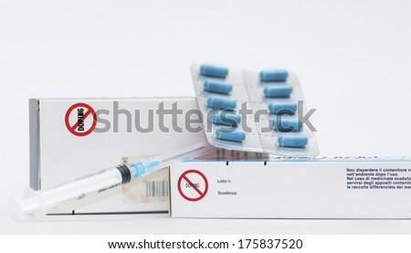 Drugs/Medicine, doping - stock photo