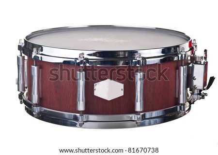 Drum DARK BROWN - stock photo