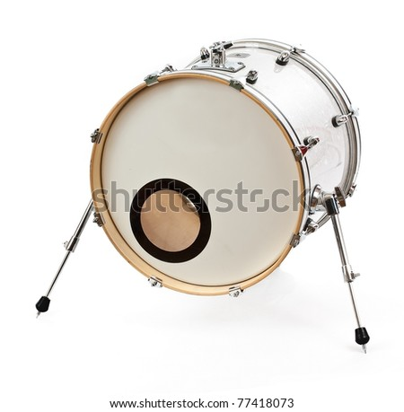 Drum isolated on white background - stock photo
