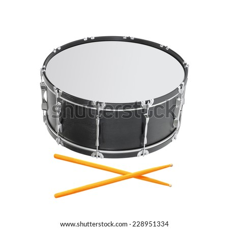 Drum on white background - stock photo