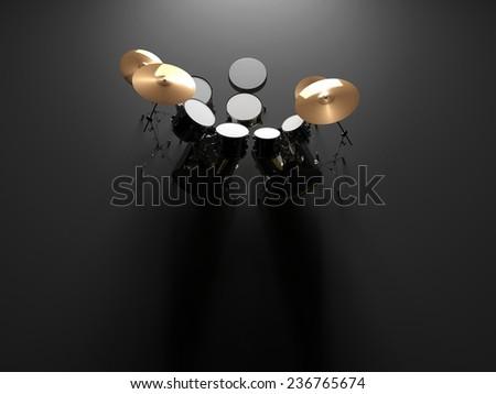 Drum set  - stock photo