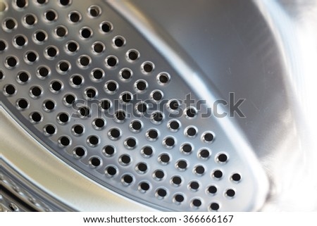 drum washing machine as a background