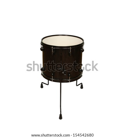 drums (floor drum) isolated on white - stock photo