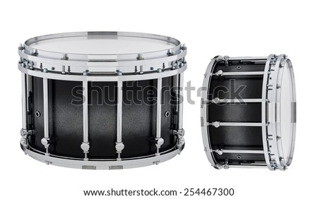 drums isolated on white background - stock photo