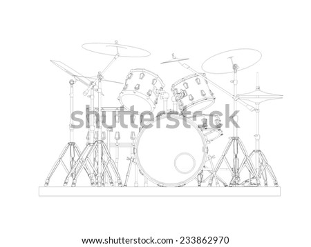 drums music - stock photo
